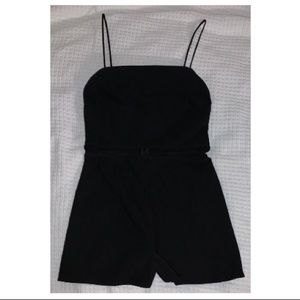 Black romper, never worn, spaghetti strap, cutout